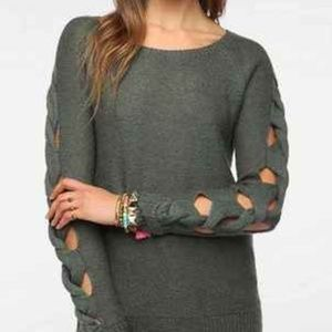 Braided Arm Sweater